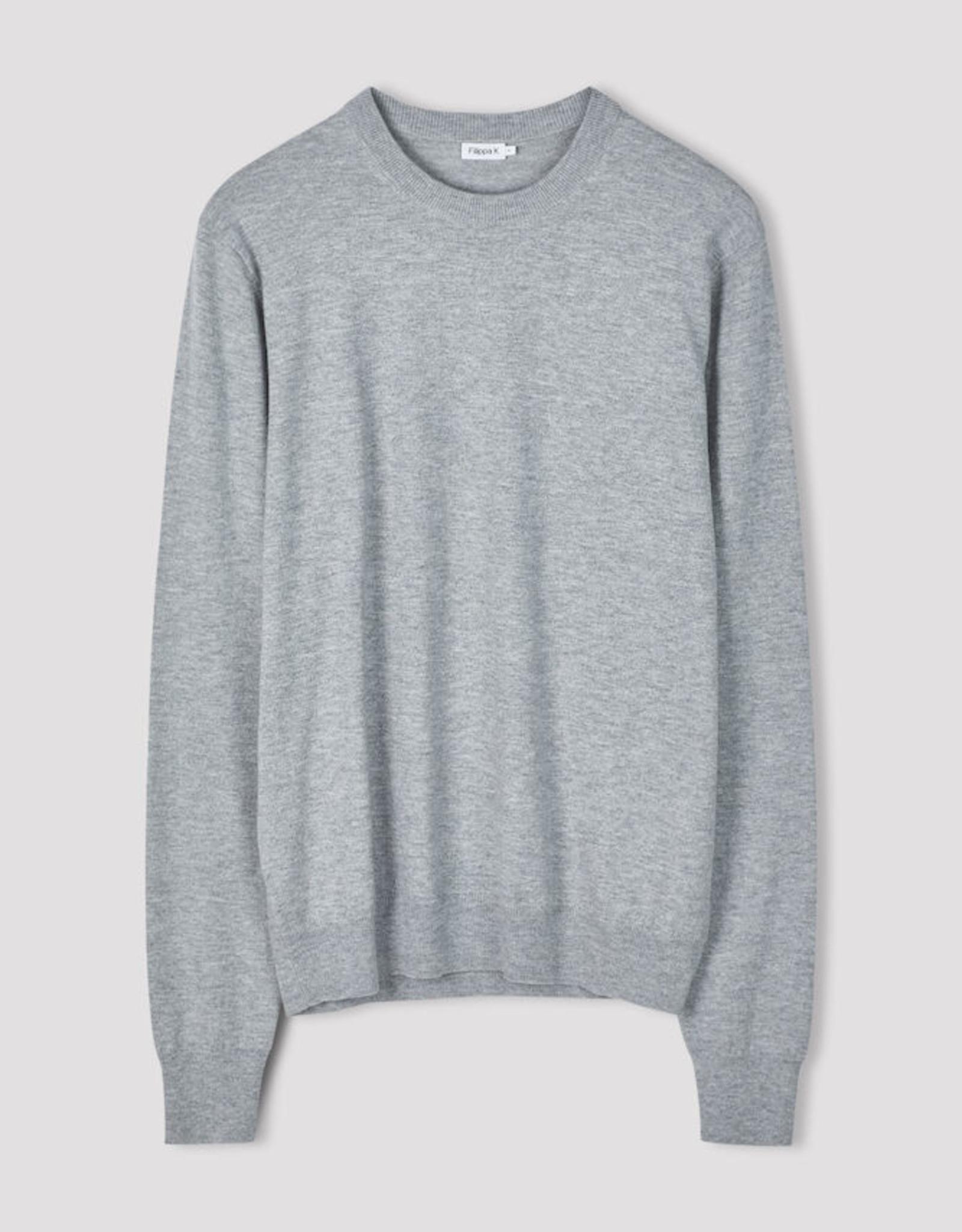 Filippa K M. Cotton Merino Sweater Light Grey