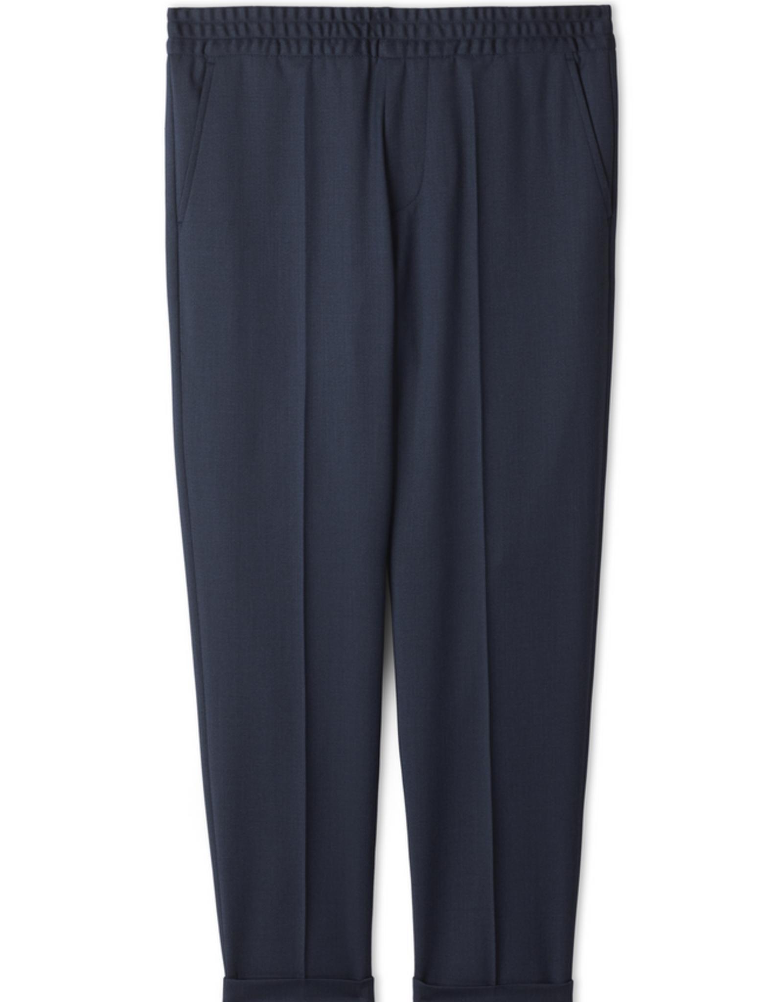 Filippa K M. Terry Cropped Trouser Dark Blue