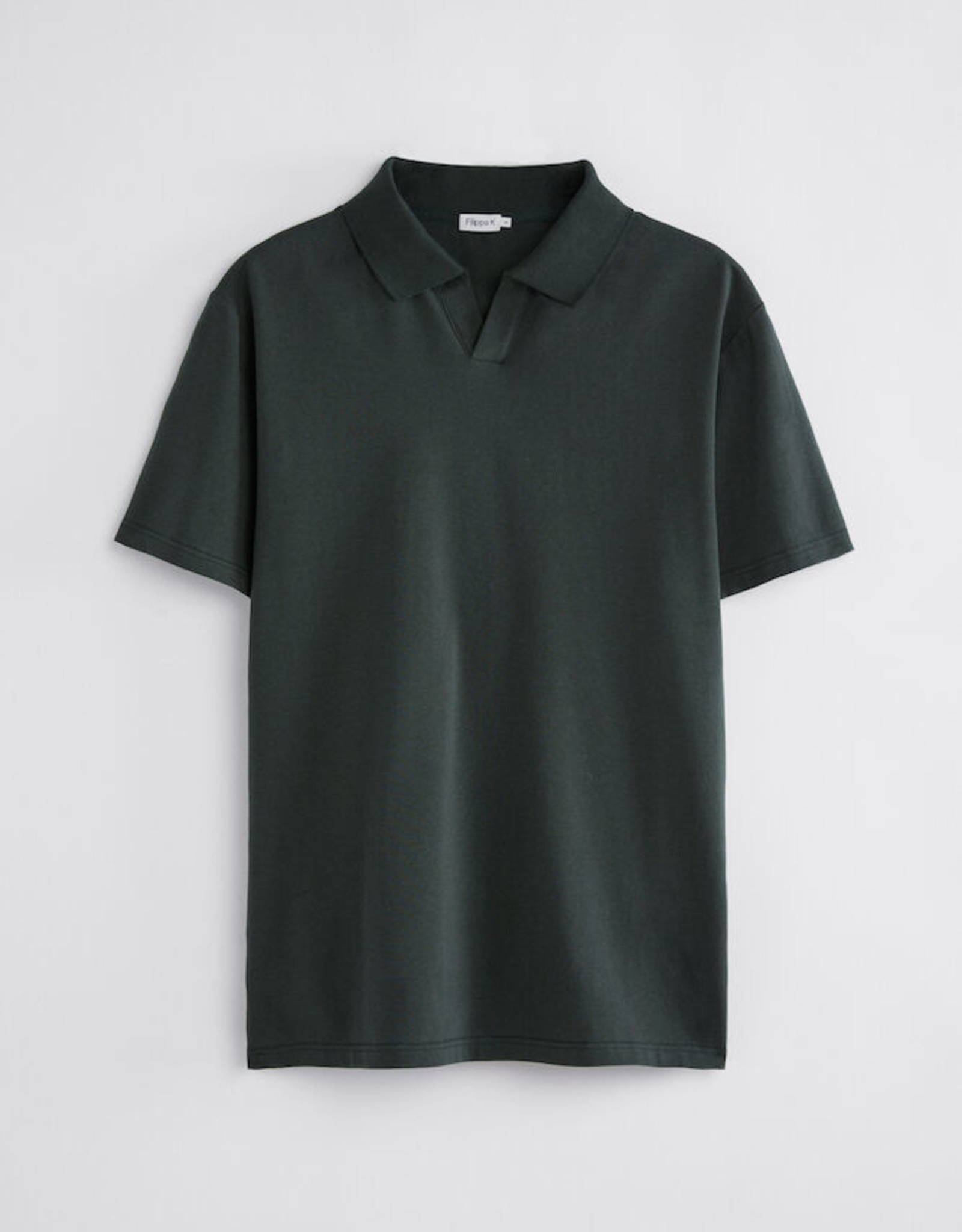 Filippa K M. Lycra Polo T-shirt Dark Spruce