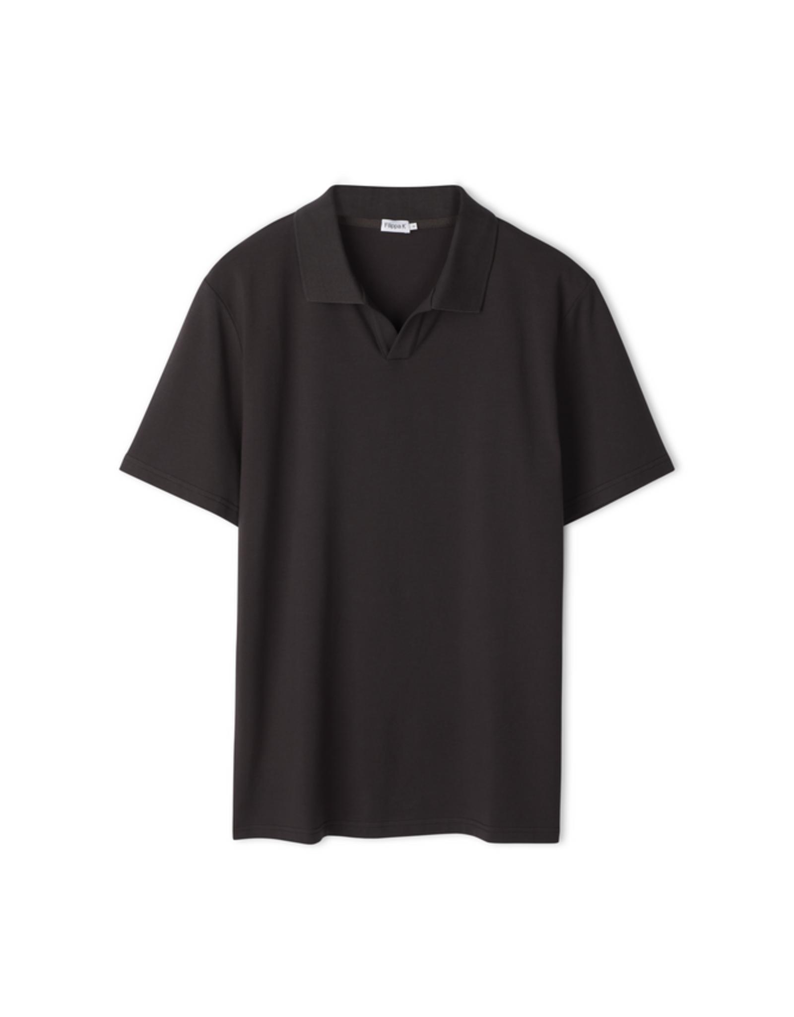 Filippa K M. Lycra Polo T-shirt Dark Mole