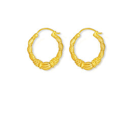 By-bar PD art hoop Earring medium