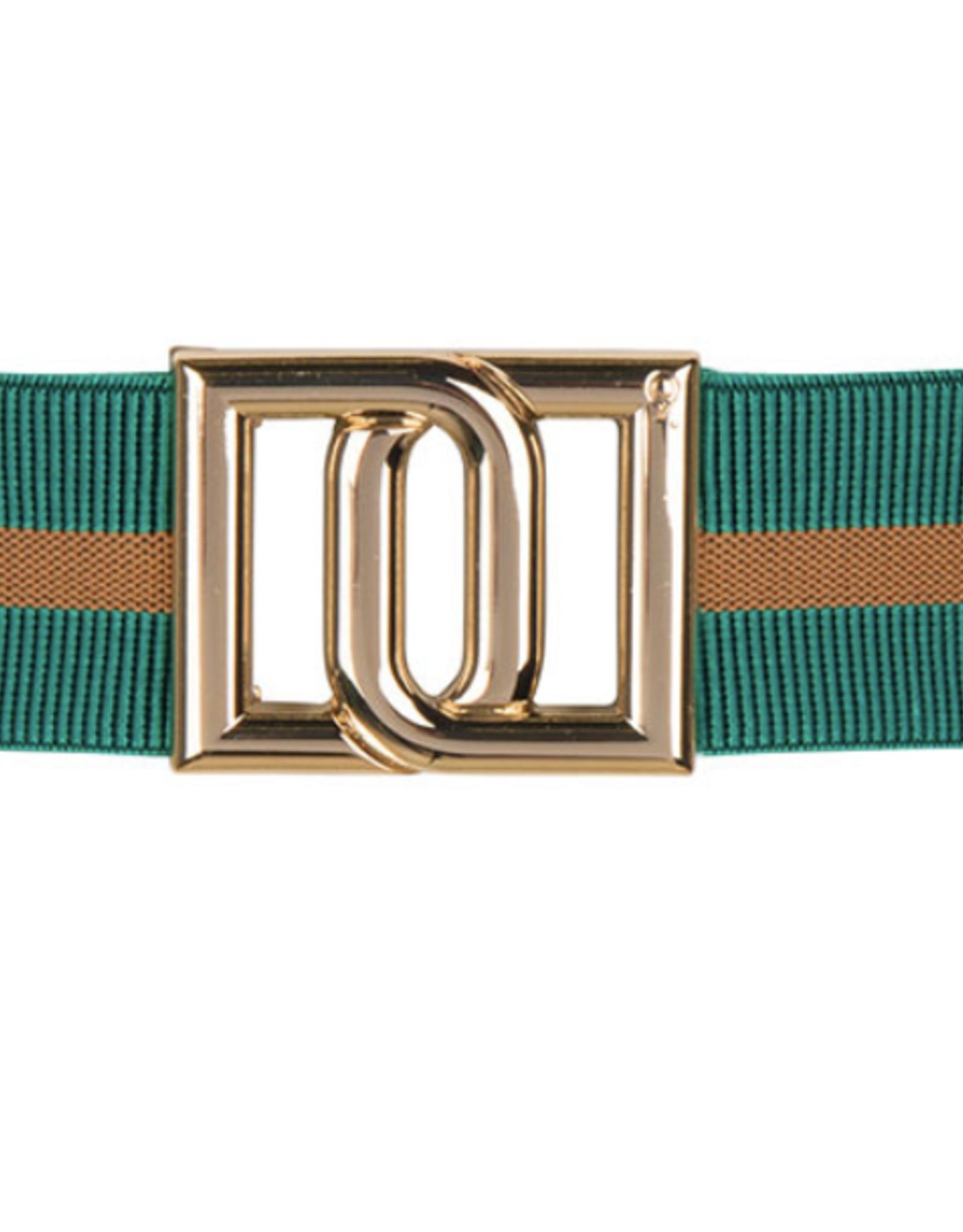 Dante6 Monogram belt Emerald green