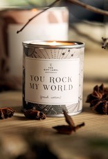 The Gift Label Candle tin You Rock My World