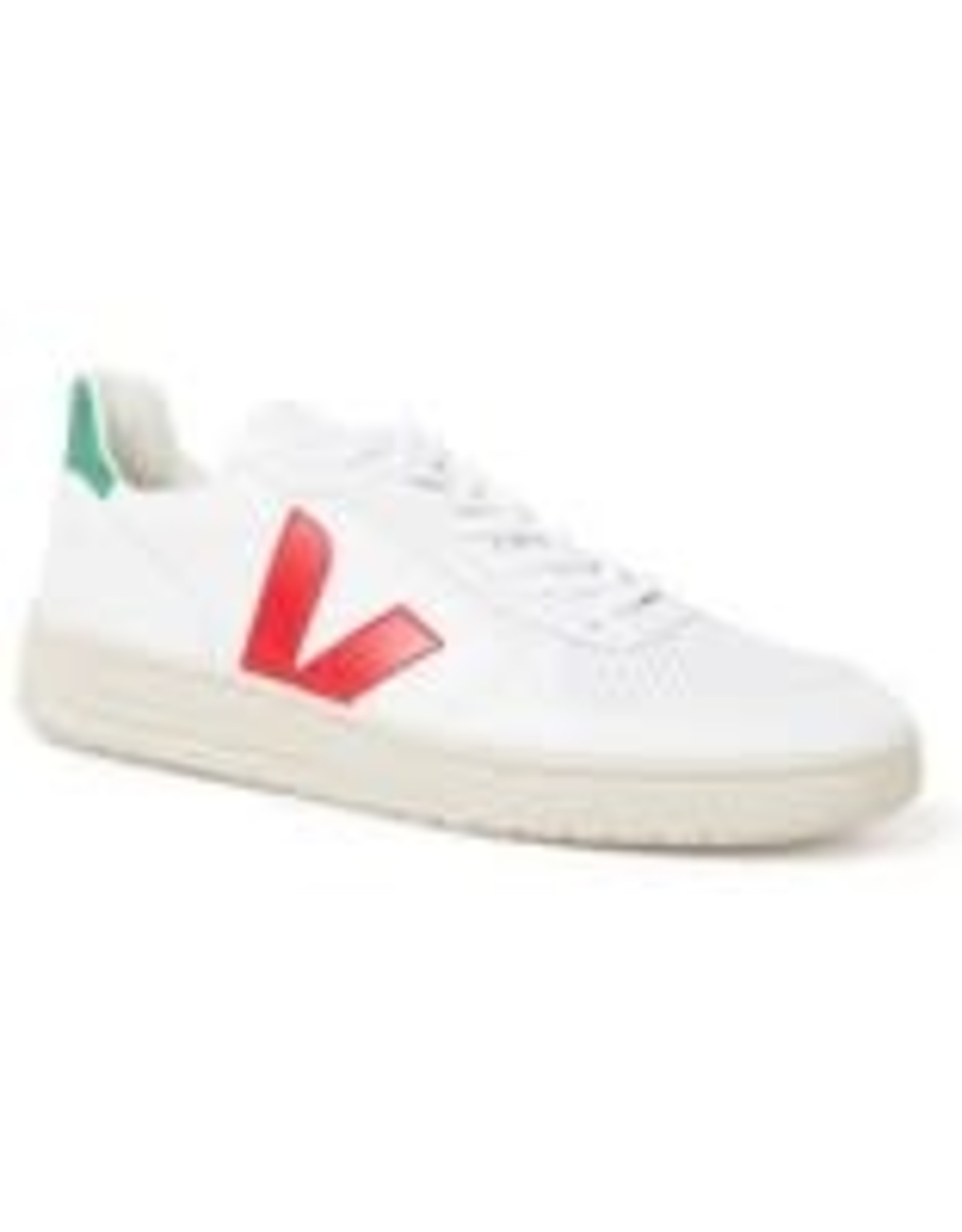 Veja V10 Leather Extra White Pekin Emeraude 46