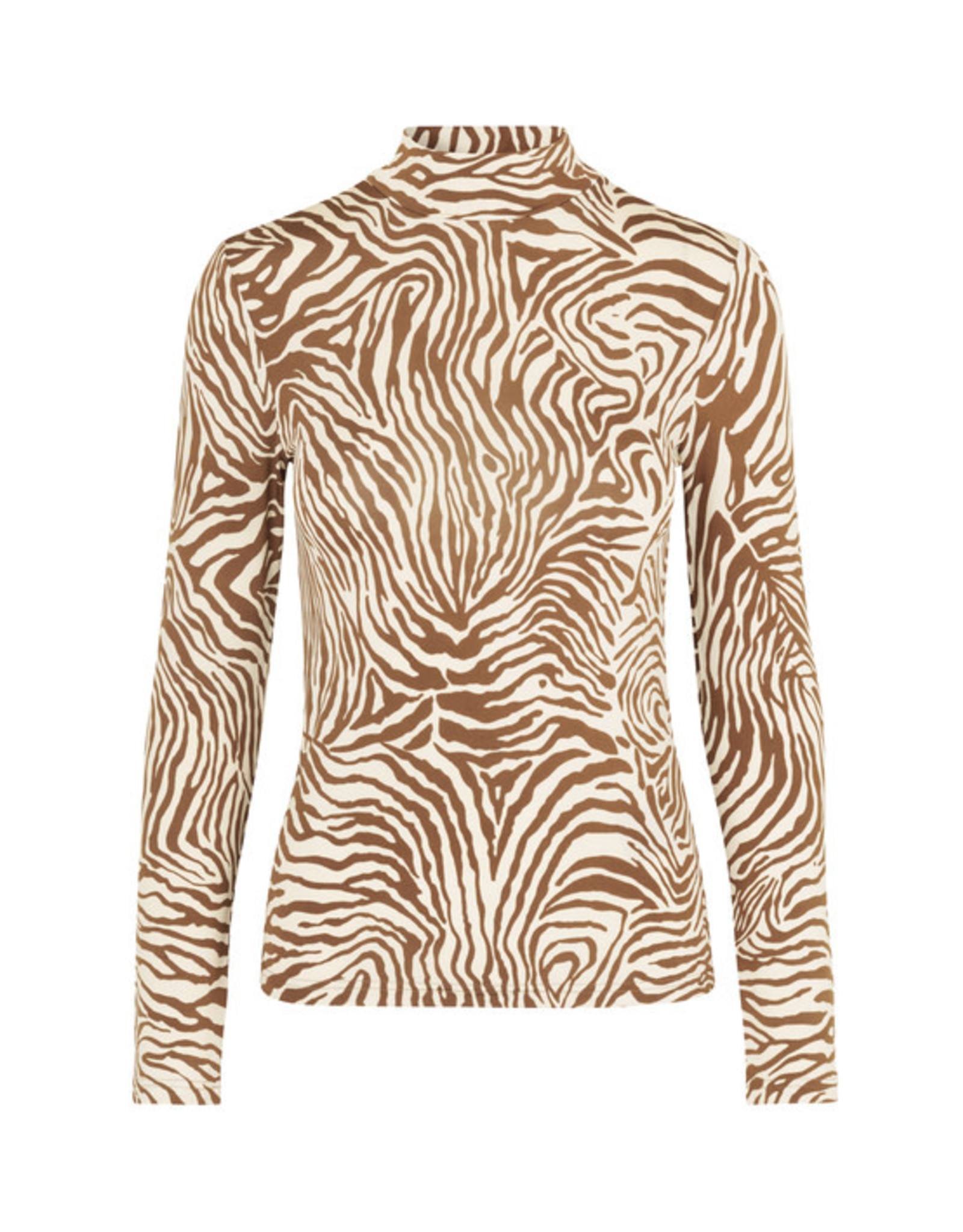 Samsoe & Samsoe Elsi t-n t-shirt ls aop Mountain zebra
