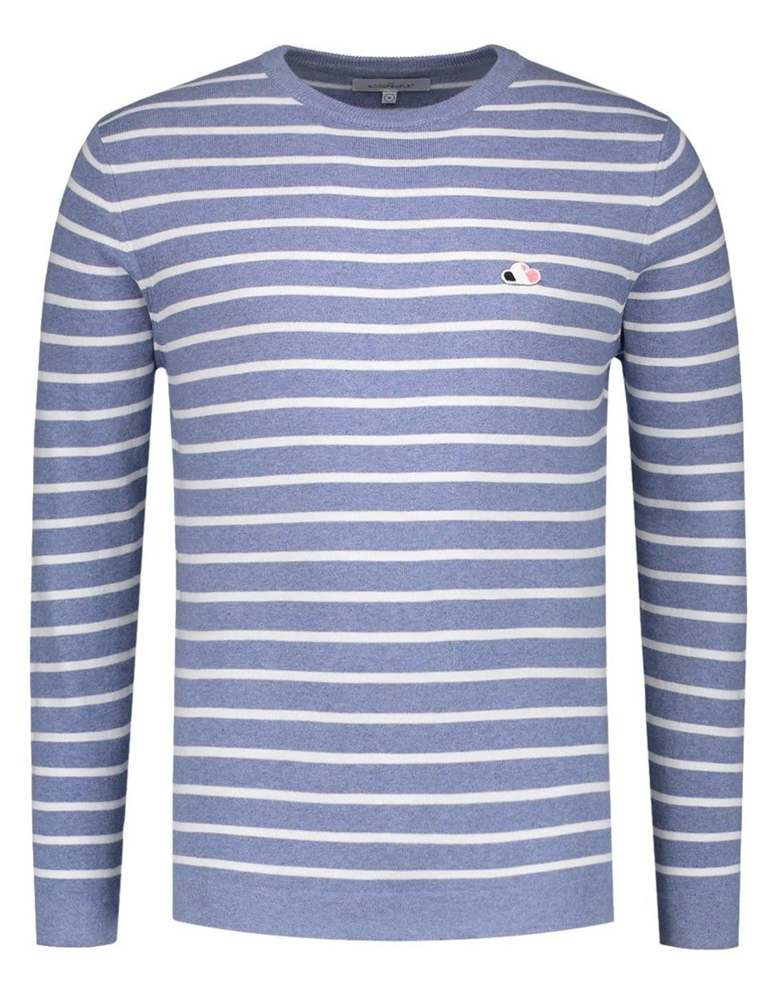 Sweater Stripe Ligt blue