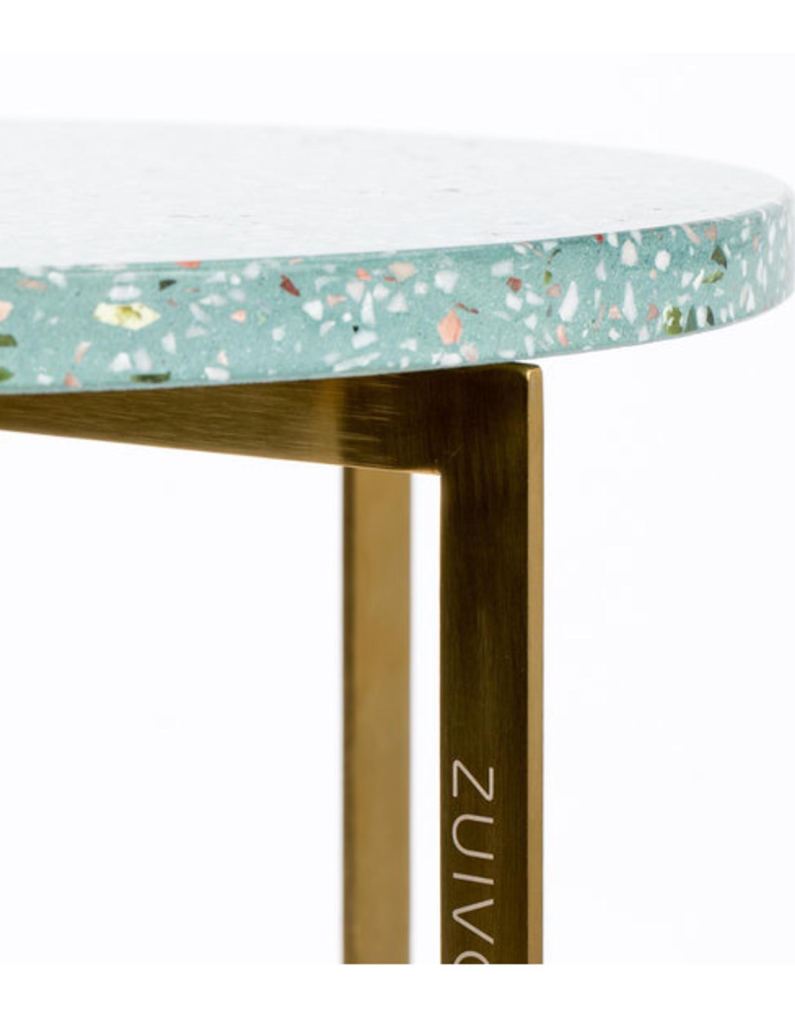 Side table Luigi round green