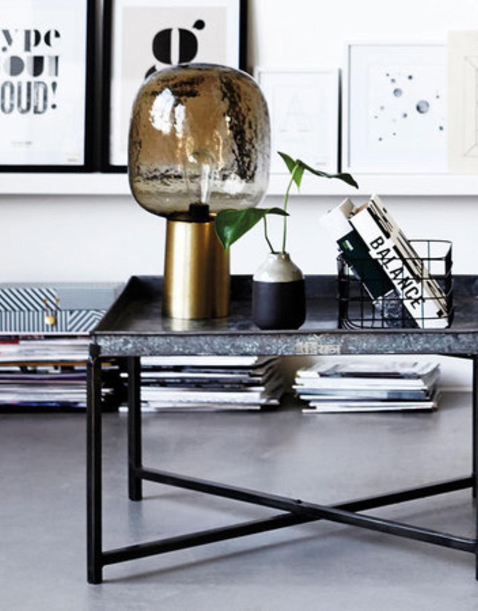 Lamp, Note Grey / Brass