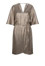 Dante6 Dallas metallic jersey dress Silverlight