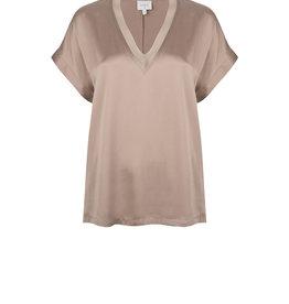 Dante6 Odette stretch silk top Warm Grey