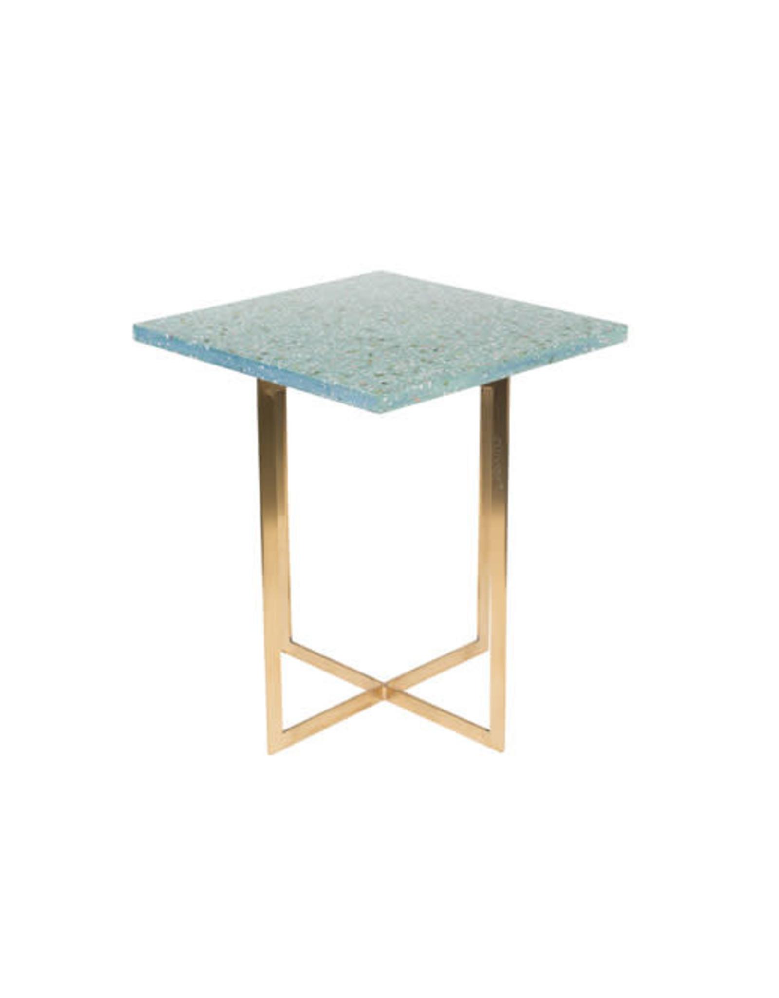 Side table Luigi square green