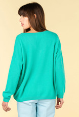 Absolut Cashmere ANGELE PULL COL V ML MAXI OVERSIZE JADE