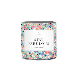 The Gift Label Candle tin Stay Fabulous