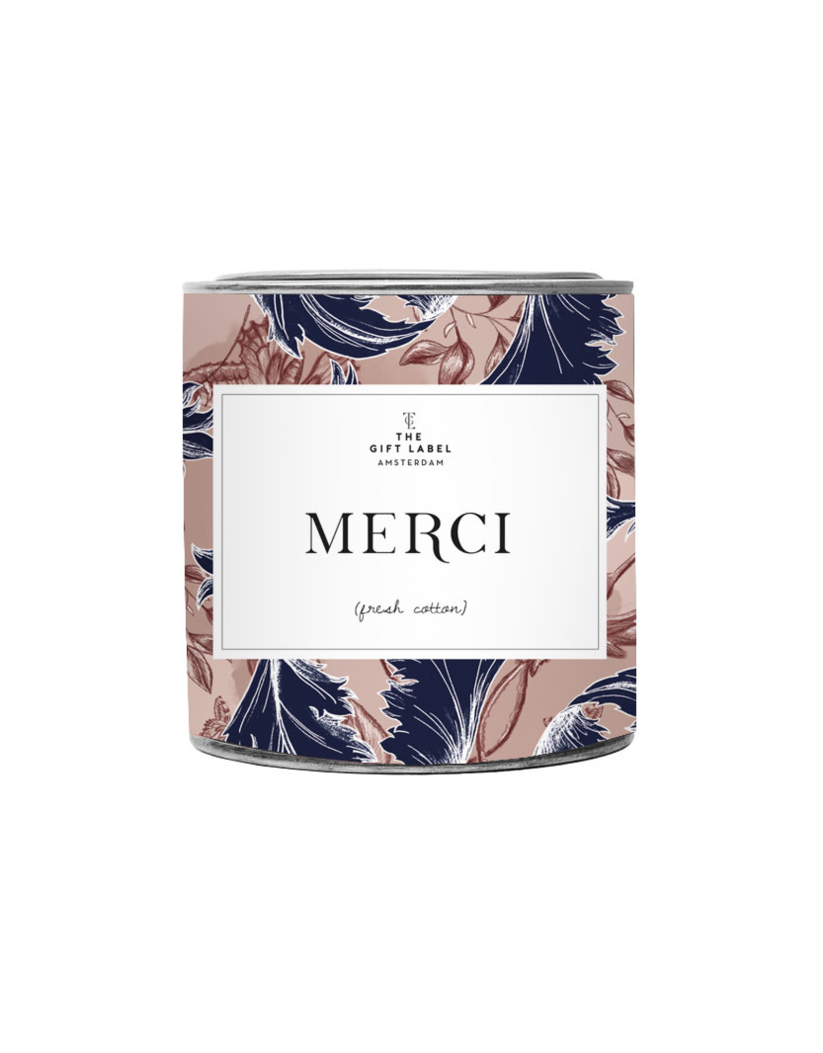 The Gift Label Candle tin Merci