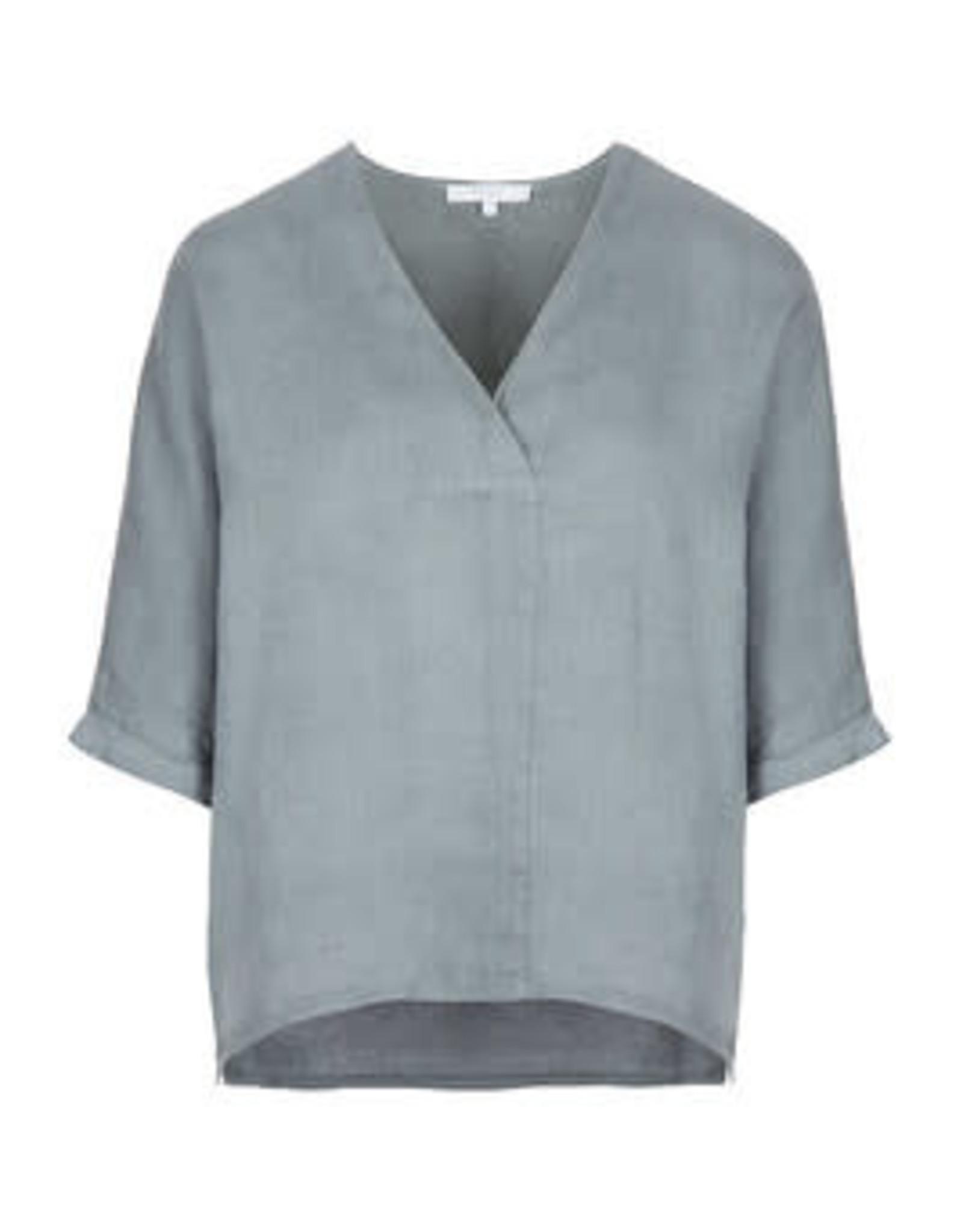 By-bar liva linen blouse smoke blue