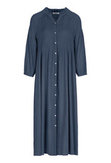By-bar loulou smocked dress oil blue