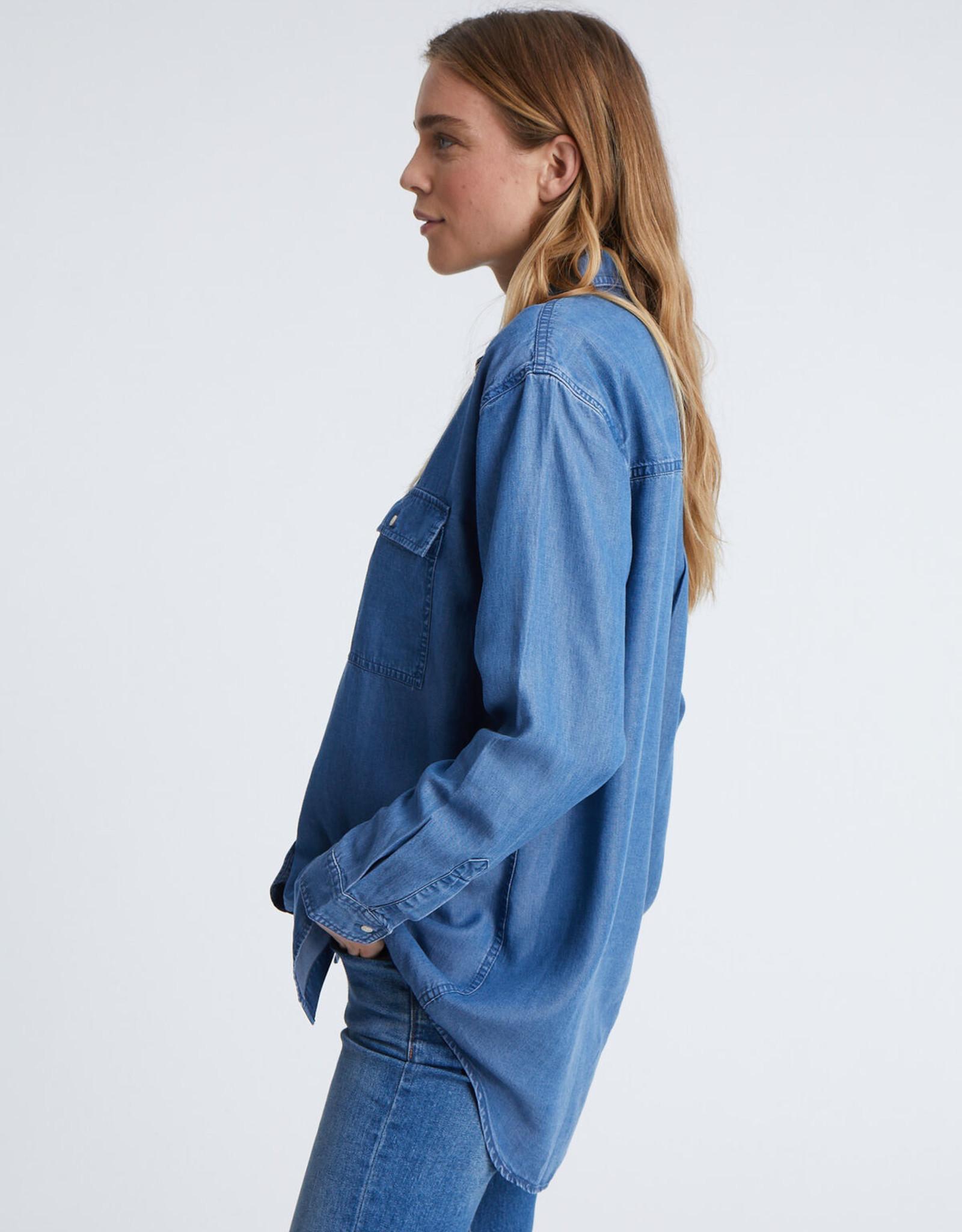 Denham LONG SHIRT BLFBLT BLUE