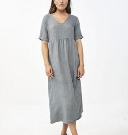 By-bar daan linen dress smoke blue