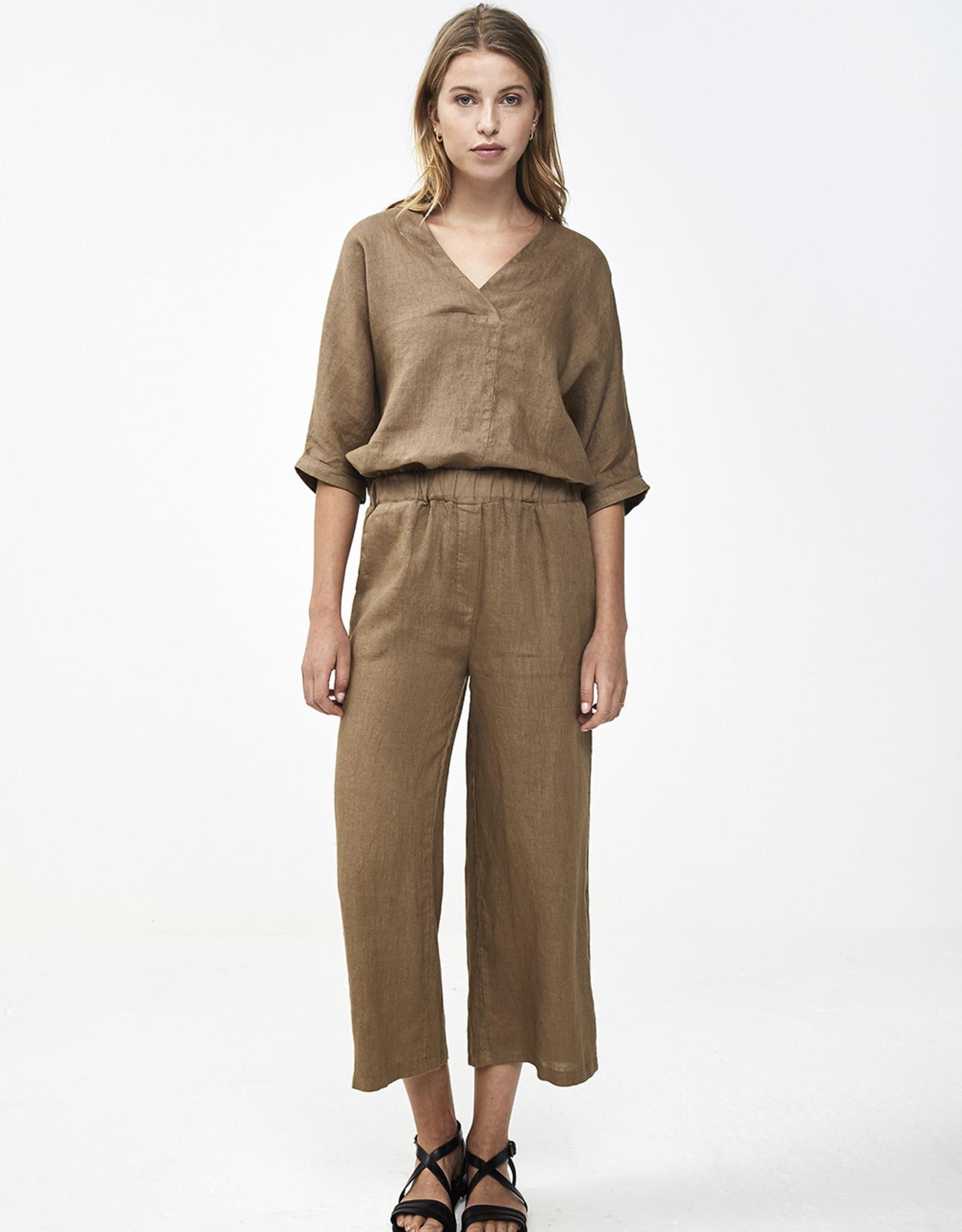 By-bar liva linen blouse sepia