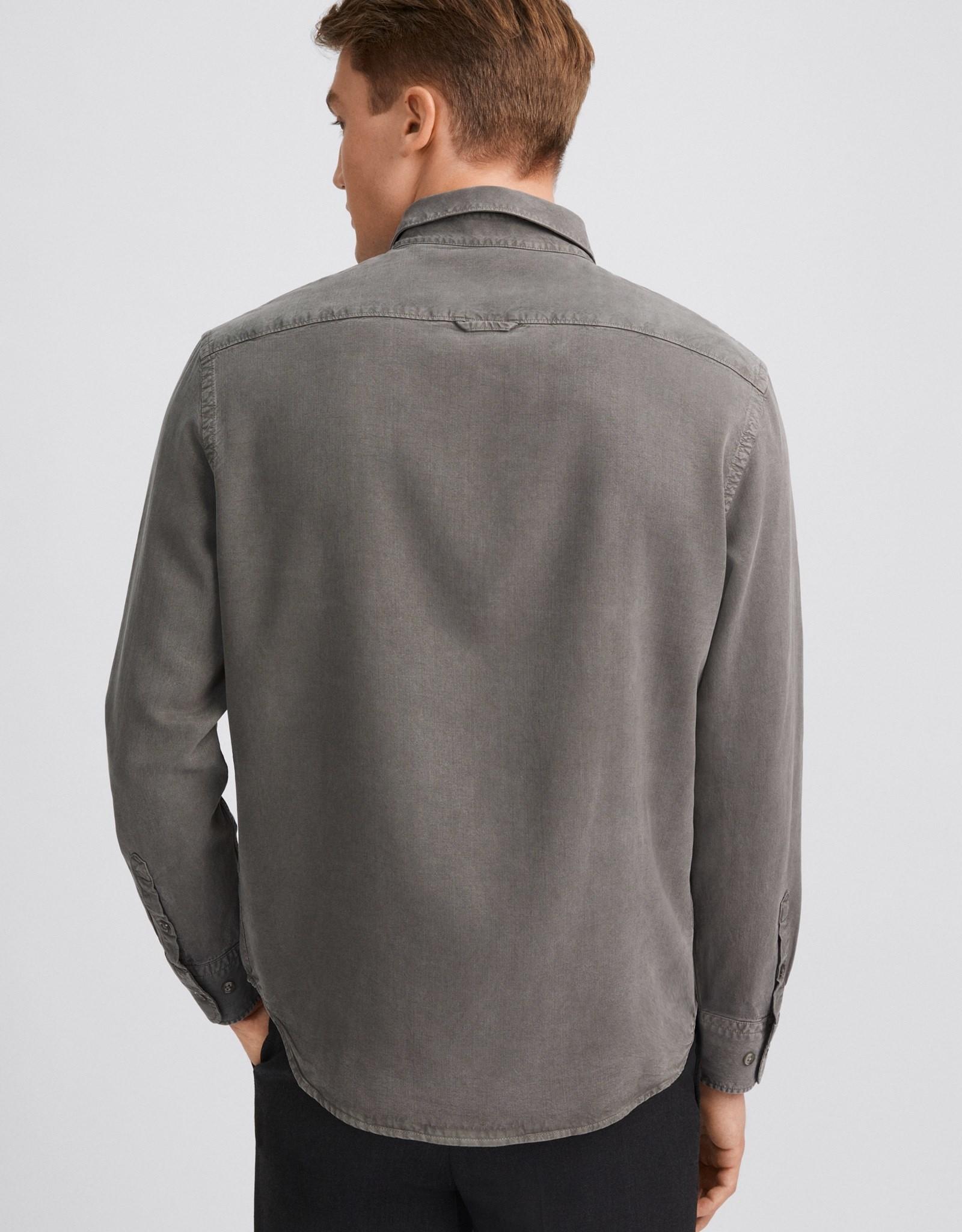 Filippa K M. Zachary Tencel Shirt Nickel Grey