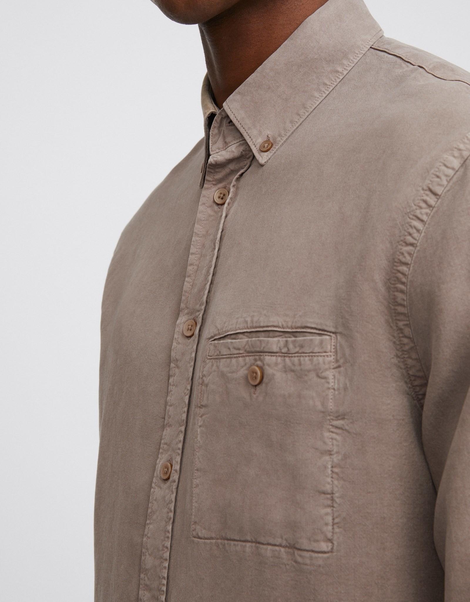 Filippa K M. Zachary Tencel Shirt Desert Taupe
