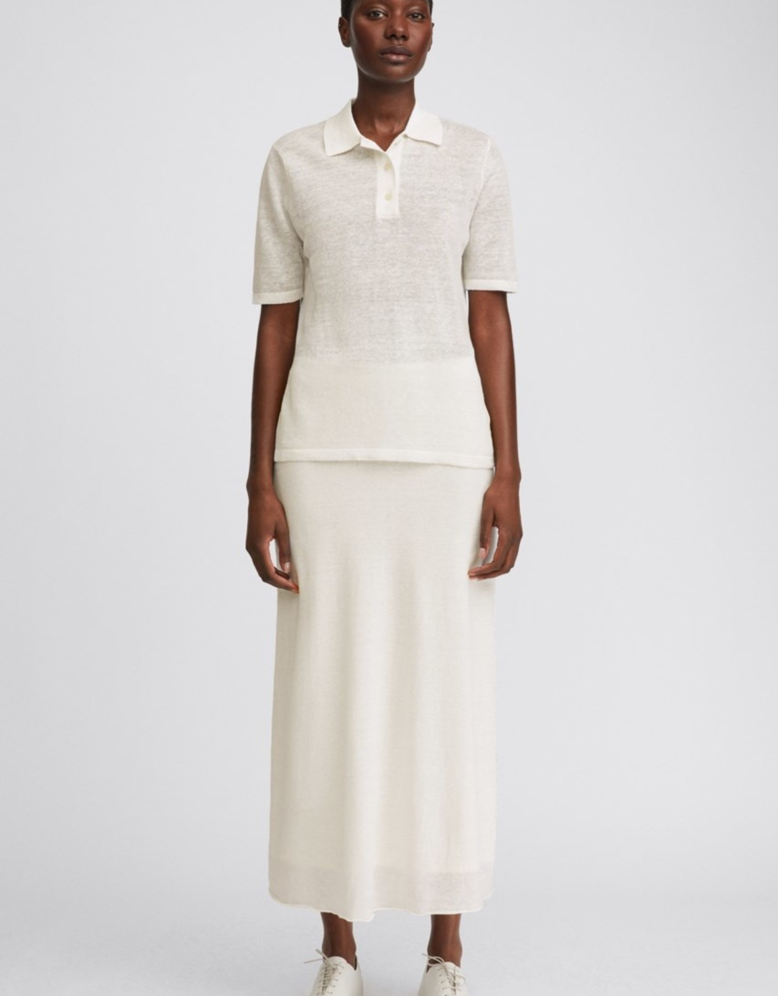 Filippa K Angeline Knit Top White Chalk