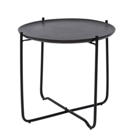 Urban Nature Culture Coffee table with serving tray Fez, Shizu black small