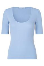 Samsoe & Samsoe Alexo ss t-shirt BRUNNERA BLUE