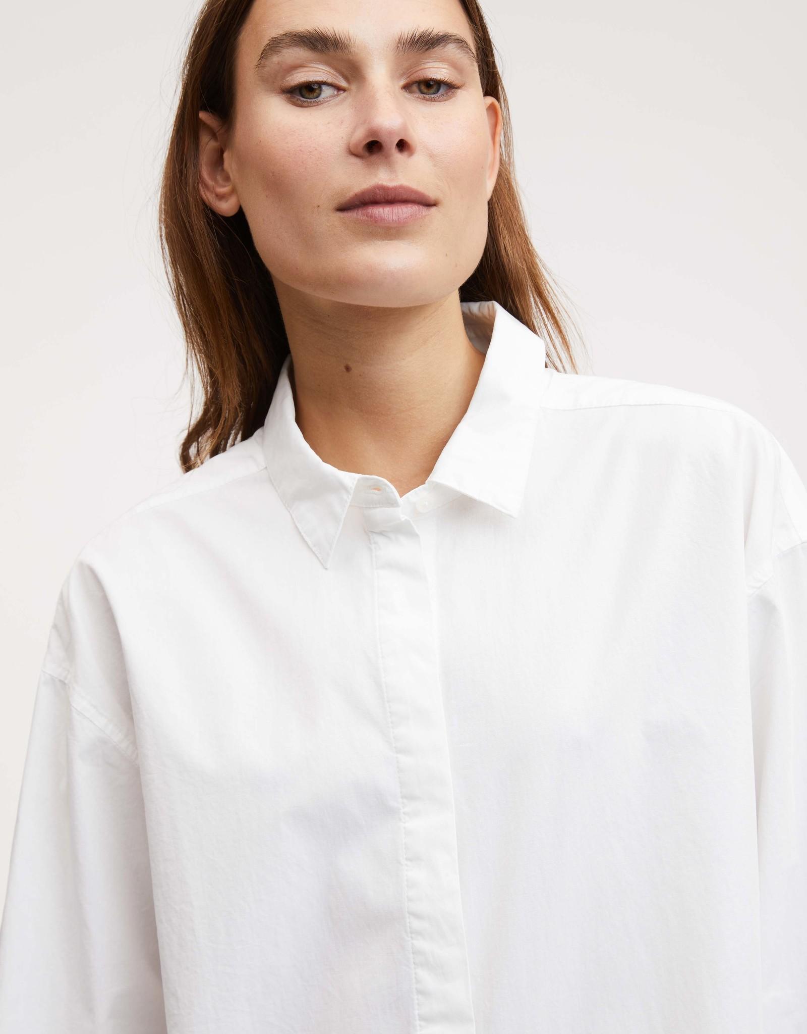 Denham OLIVIA SHIRT DRESS POP WHITE