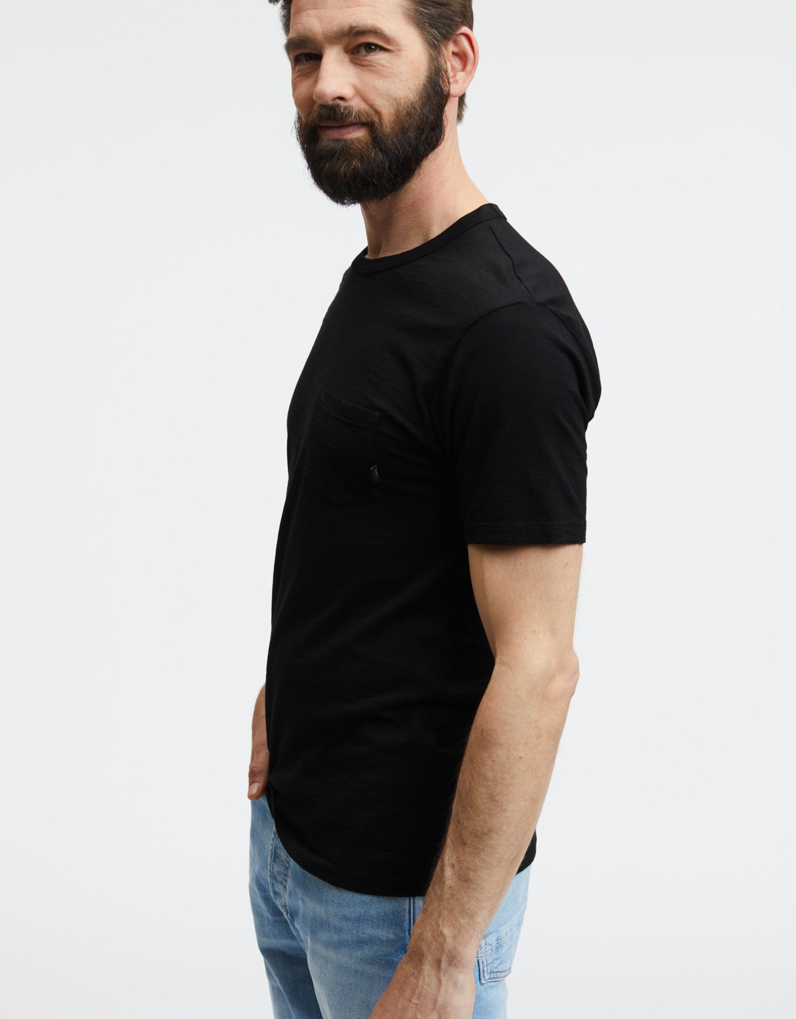 Denham ROGER POCKET TEE SLC BLACK