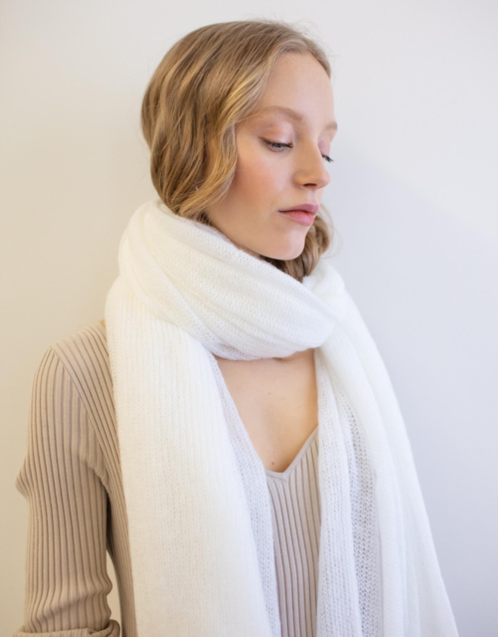 leselles scarf Helene bridal white