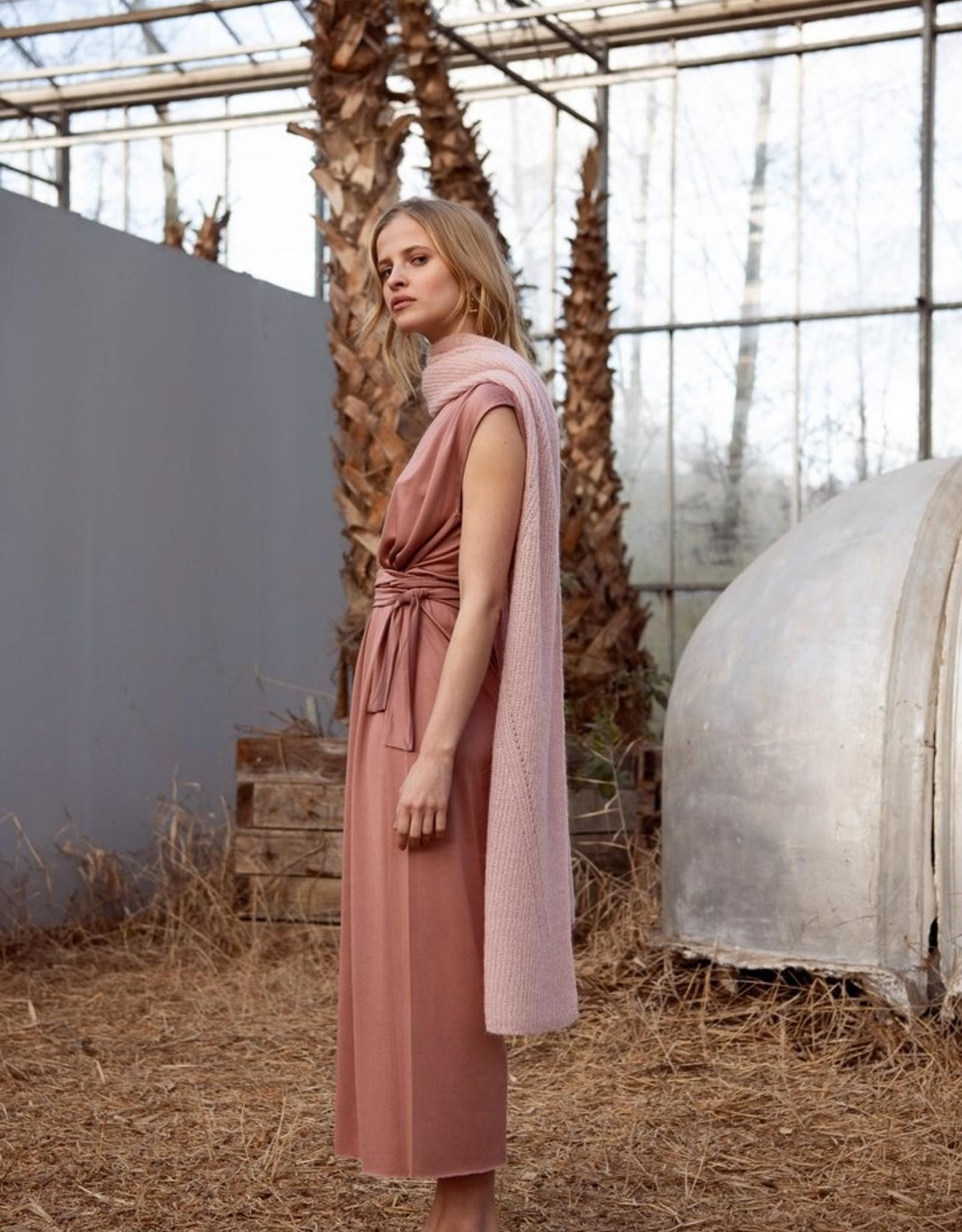 leselles scarf Jille pink blush