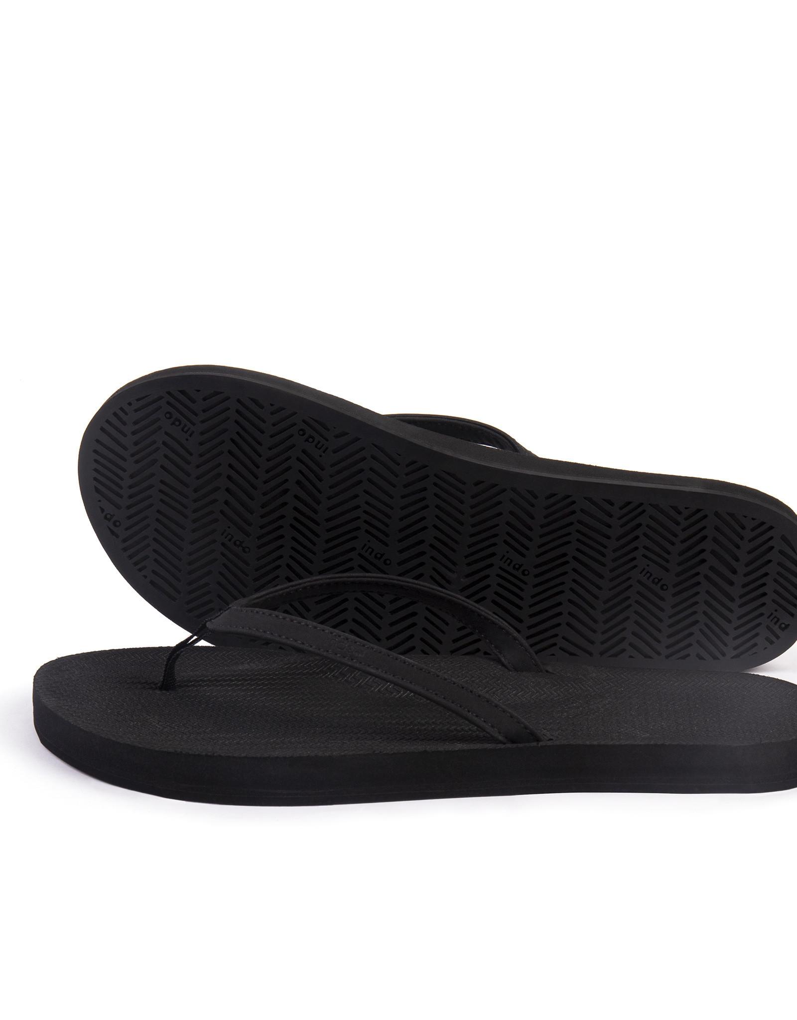 Indosole Flip Flops Essential Black