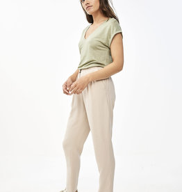 By-bar mila linen top bright olive
