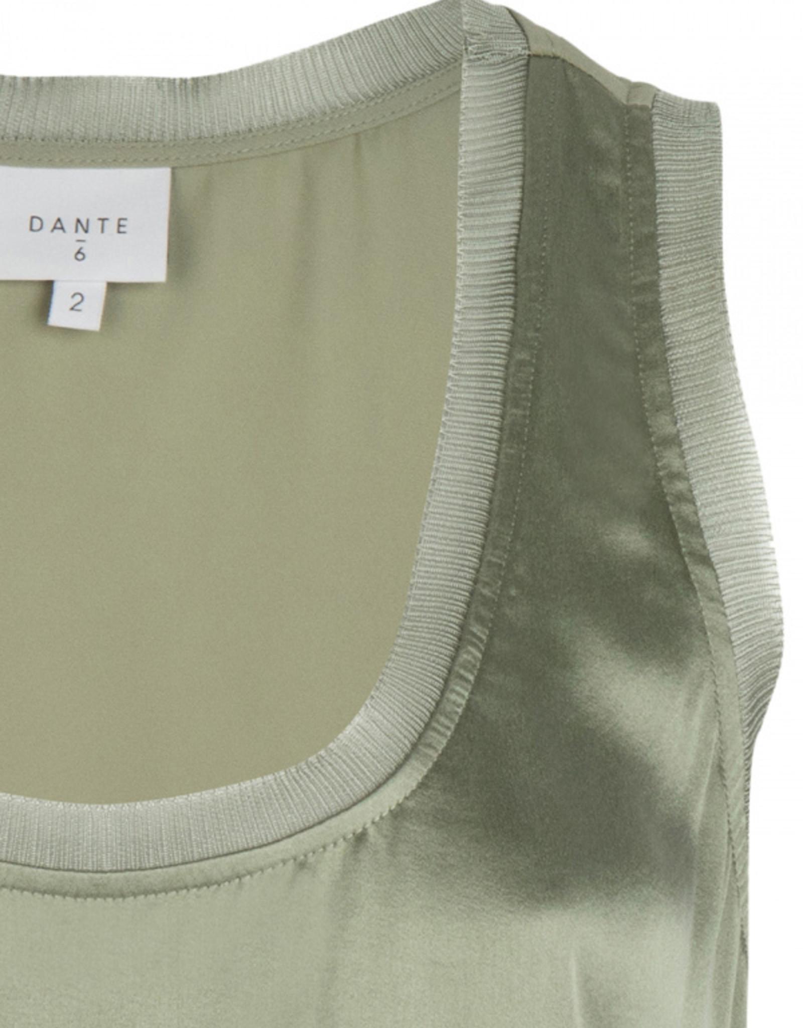 Dante6 Nava stretch silk top Sage Green
