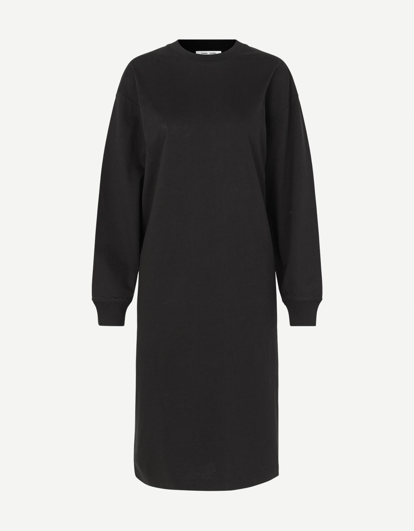 Samsoe Samsoe Chrome ls dress12700 BLACK