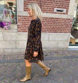 By-bar nouk golden flower dress golden flower print