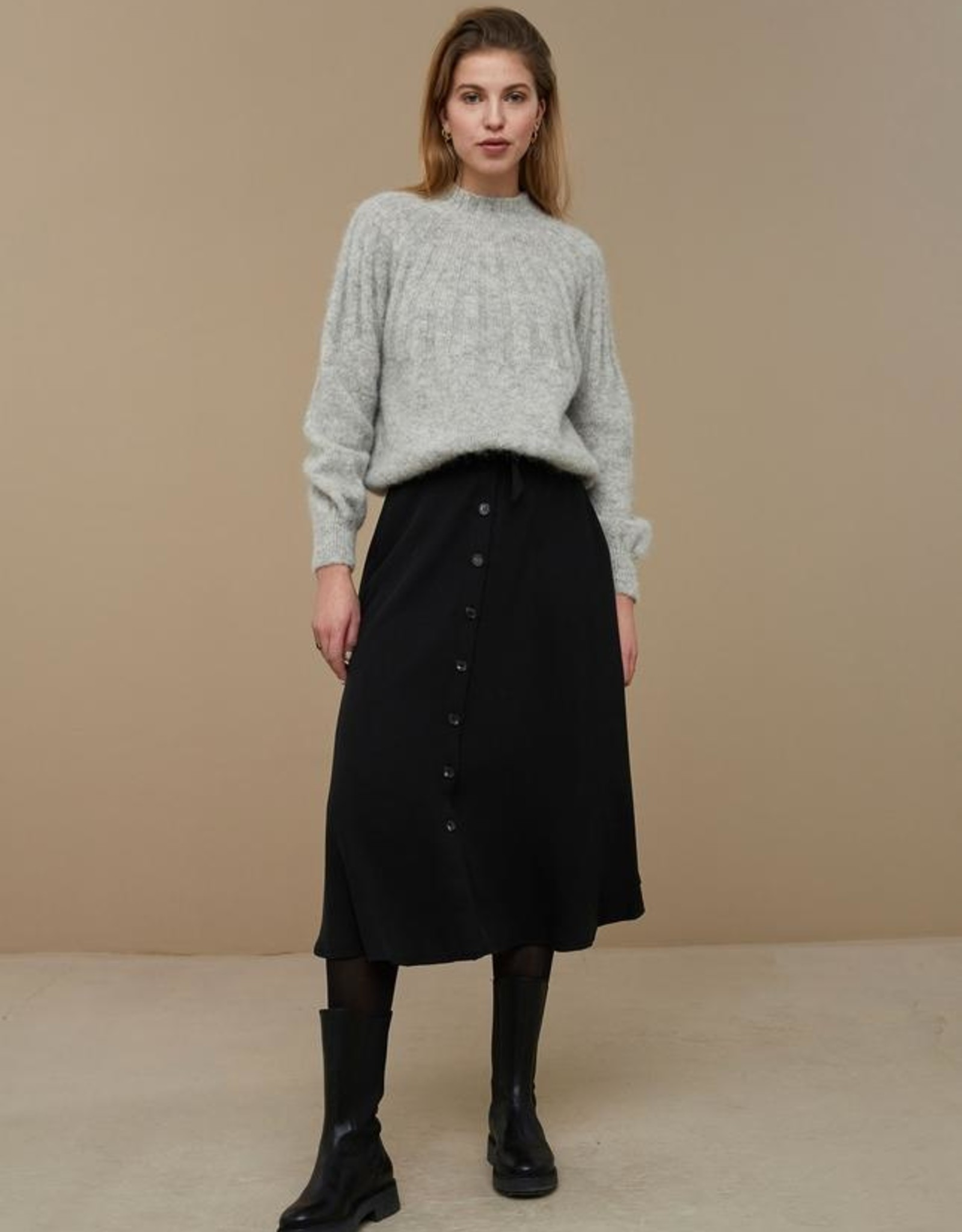 By-bar zoe pullover grey melee