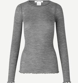 Samsoe Samsoe Doudo t-shirt ls13020 Grey Mel.