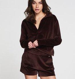 Lune Active Teddy Sweater Purple Brown