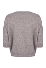 Ruby Tuesday vevy knitted top grey melange