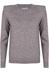 Ruby Tuesday Vekka round neck knitted pull grey melange