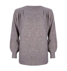 Ruby Tuesday Vea round neck knitted pull grey melange