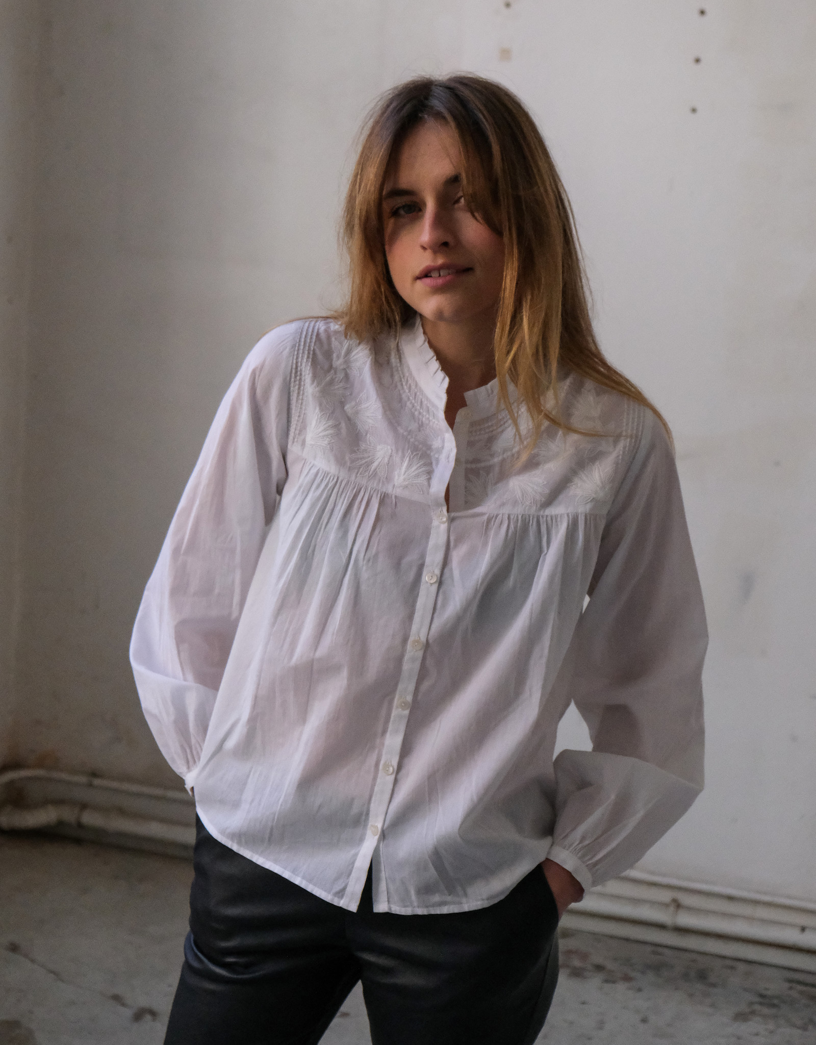Ruby Tuesday Isebree embroidered blouse bright white