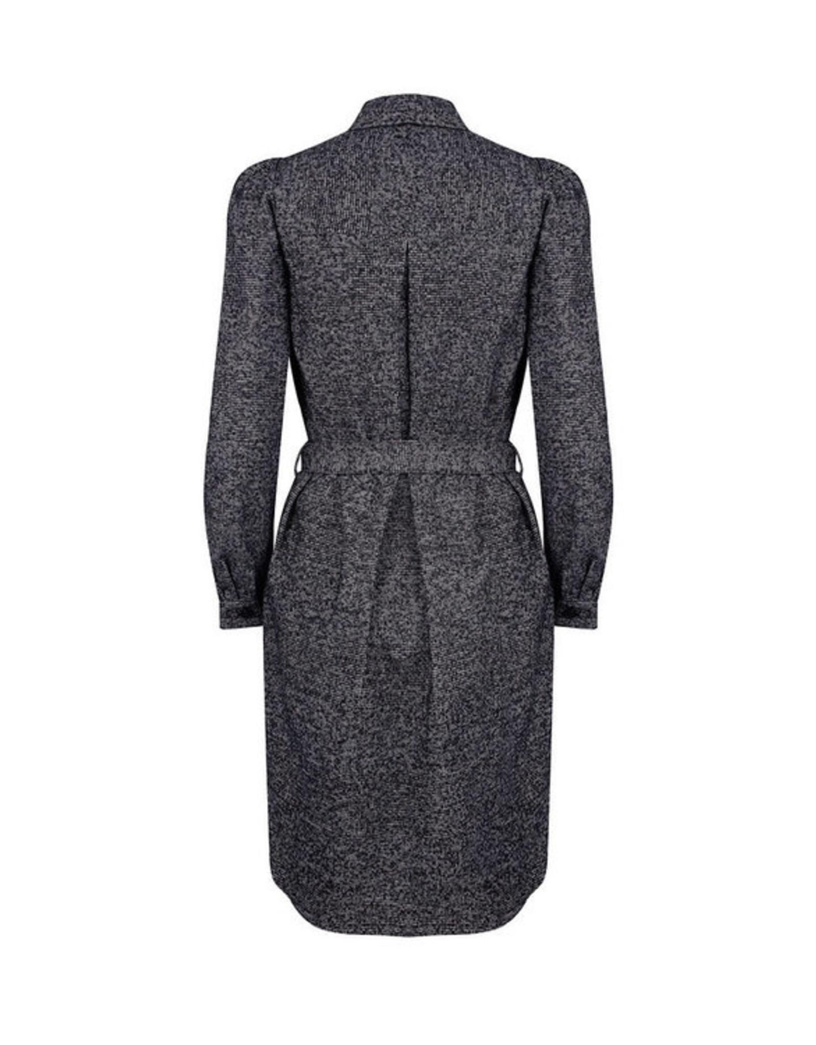 Ruby Tuesday Maelis long woolen shirt dress black