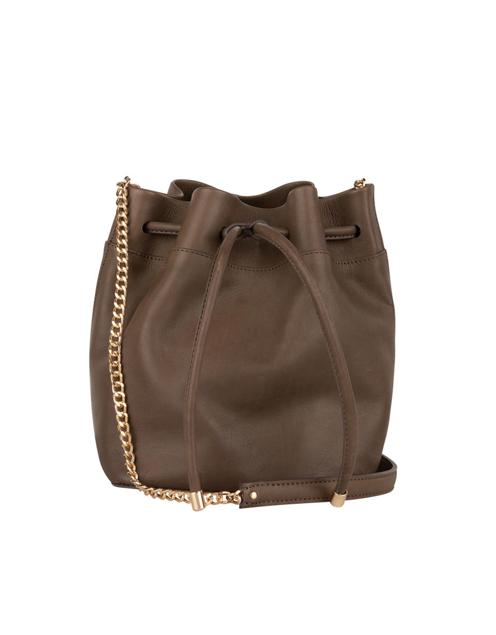Dante6 Karlie leather bucket bag Smokey Olive