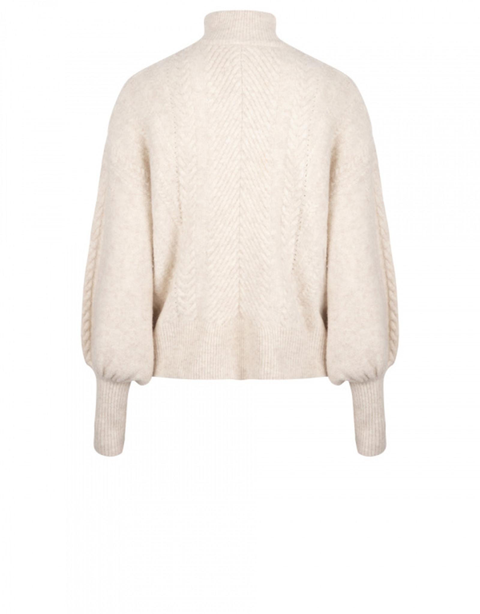Dante6 Yina zip cable sweater Bone