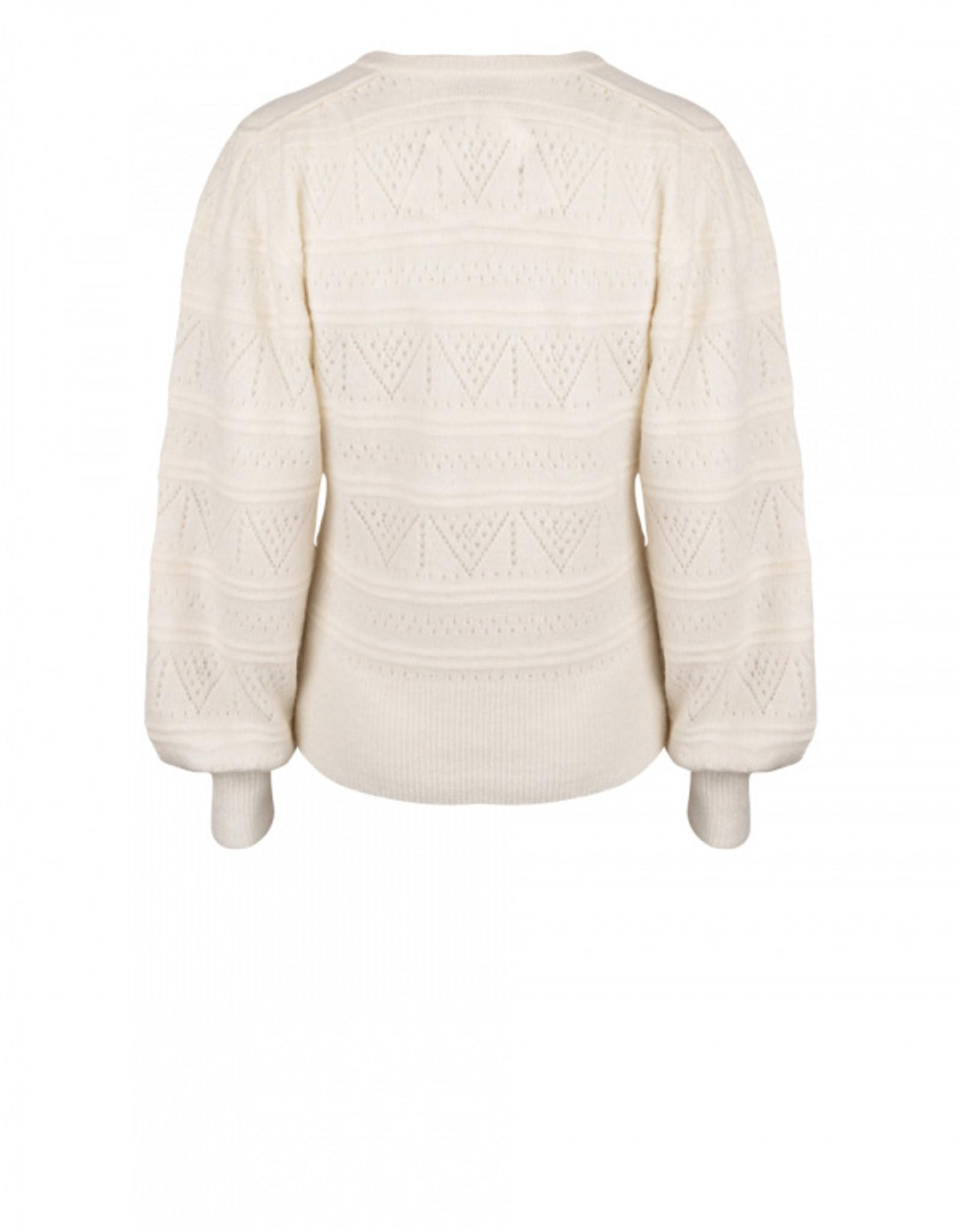 Dante6 Valana ajour sweater Bone