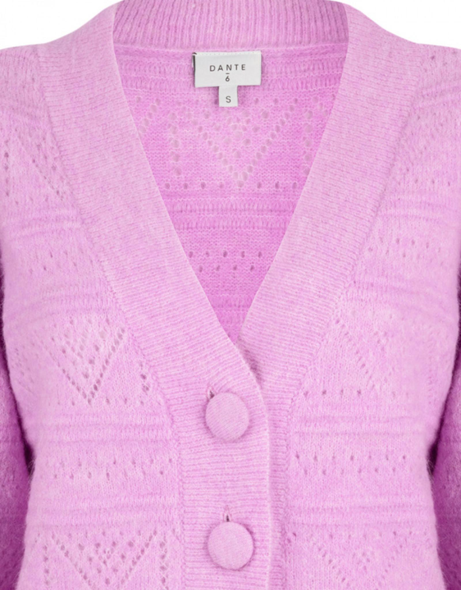 Dante6 Kaileen ajour cardigan Pastel Pink