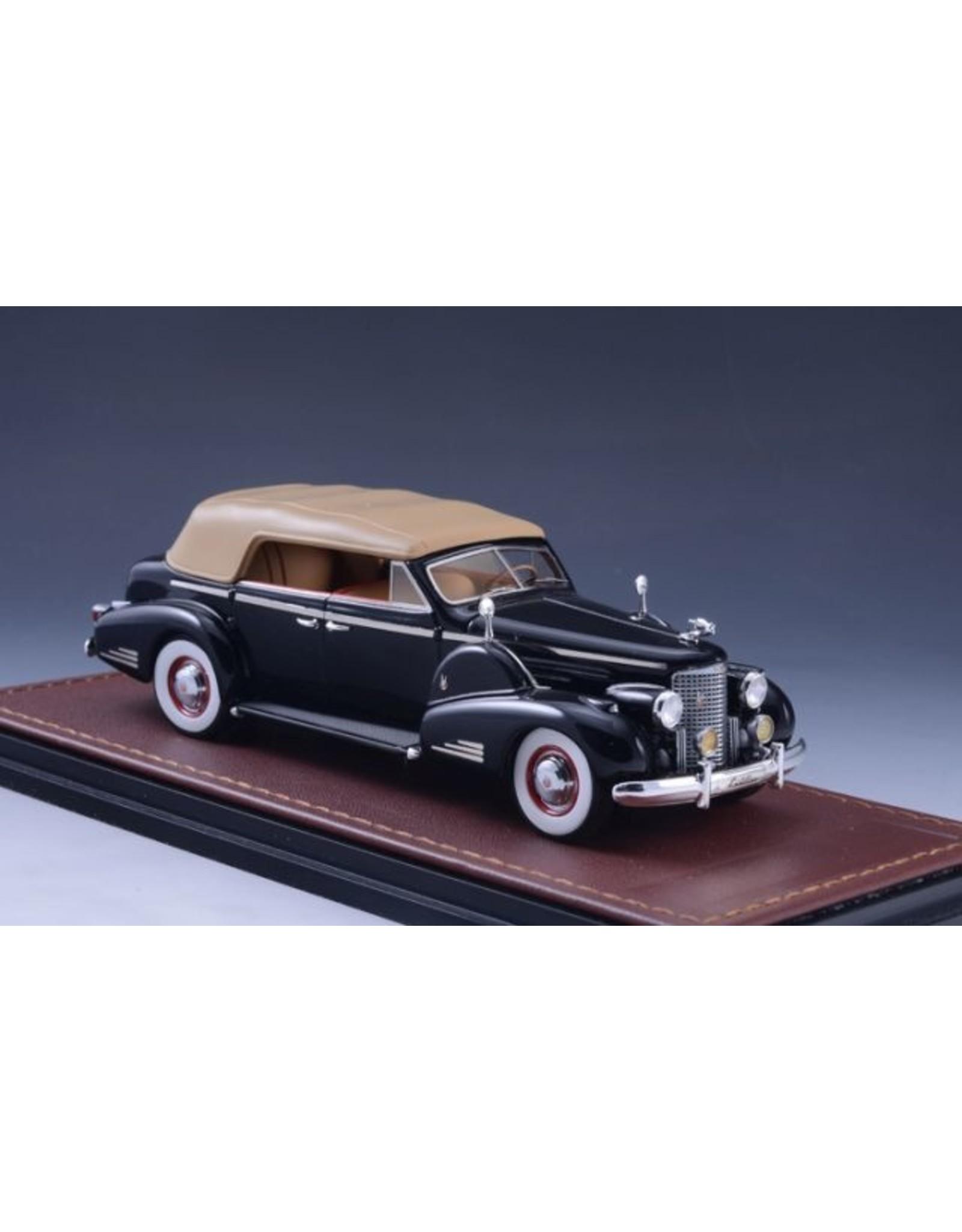 Cadillac(General Motors) CADILLAC V16 SERIES 90 FLEETWOOD SEDAN CONVERTIBLE-1938(black)closed top.